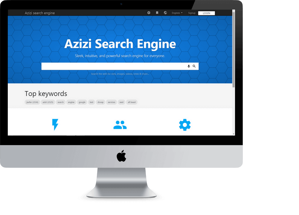 Azizi php search engine script