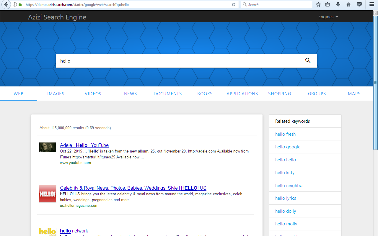Search engine Firefox Extension