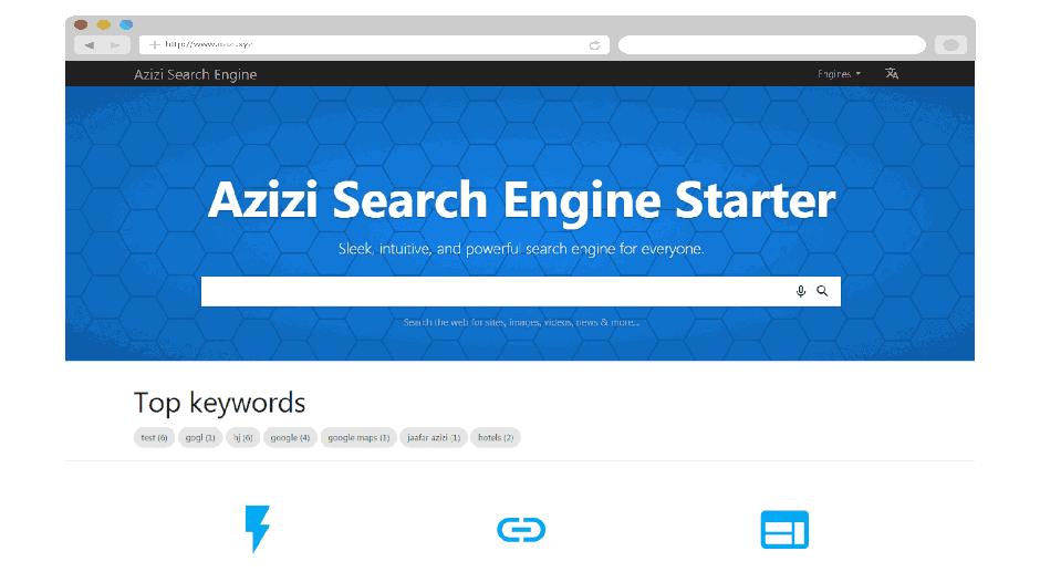 Azizi search engine script php